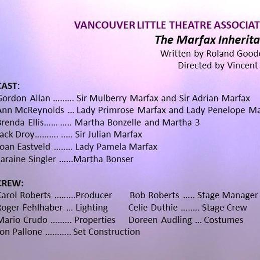 Vancouver LIttle Theatre Assoc. entry