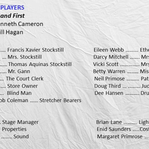 Whiterock Players entry