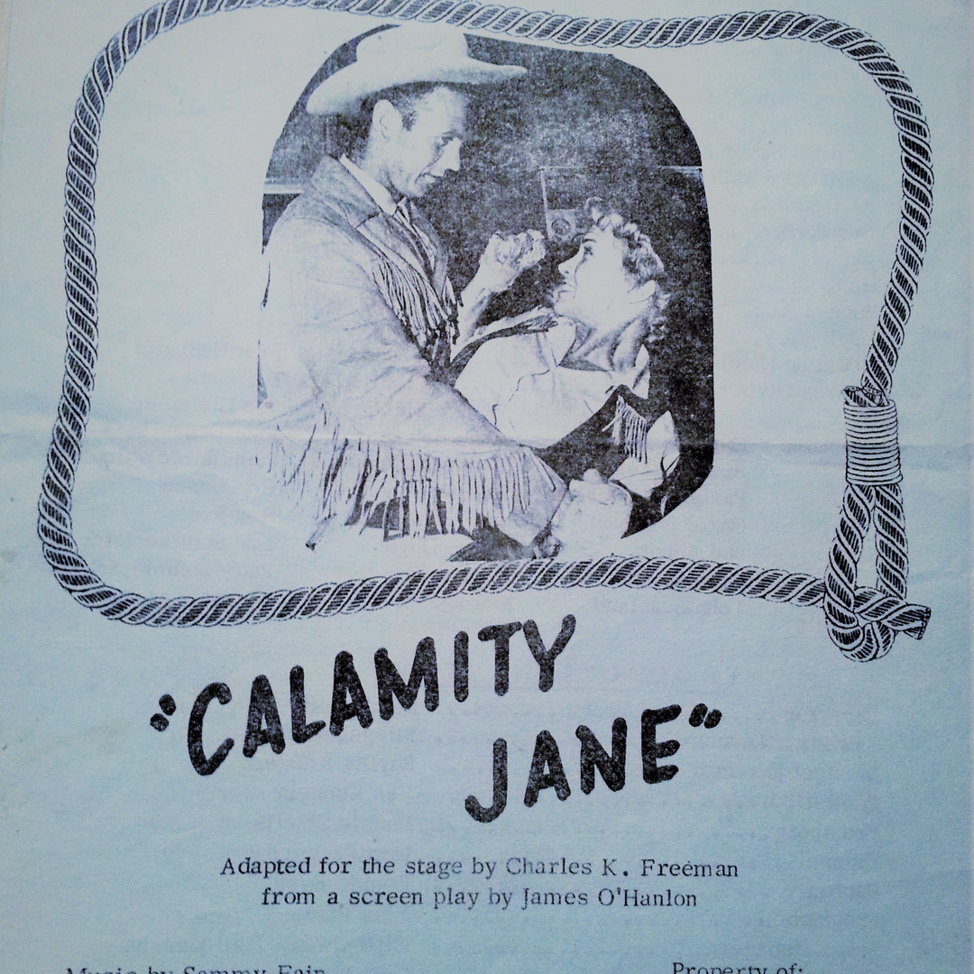Calamity Jane 1967 program cover