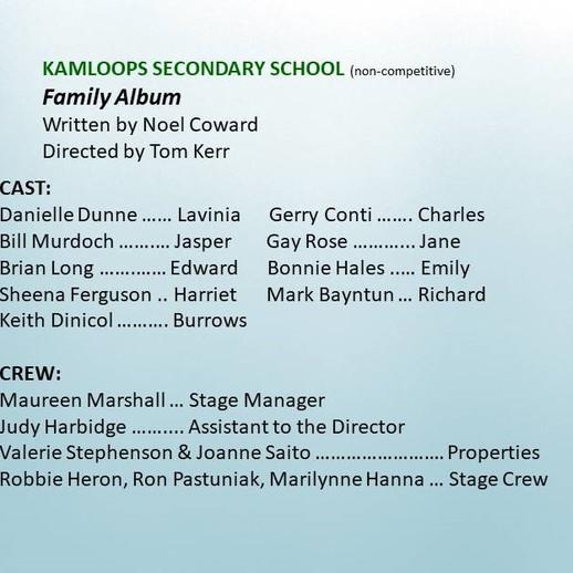 Kamloops High School entry