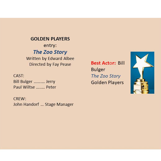 Golden entry, 'The Zoo Story'