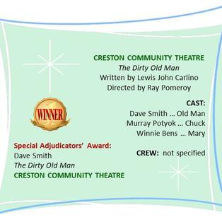 Creston Community Theatre's entry