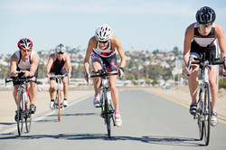 Group of Cyclist Racing