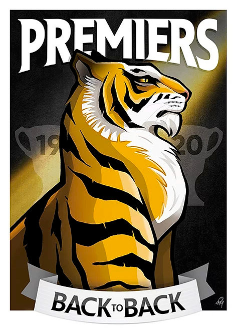 2020 Tigers 'Back to Back' A2 Poster
