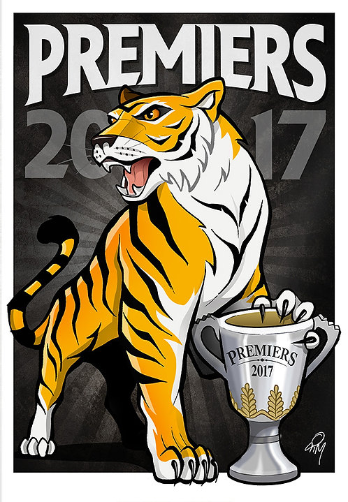 2017 Tigers 'Premiers' A2 Poster
