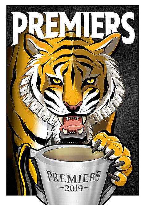 2019 Tigers 'Premiers' A2 Poster
