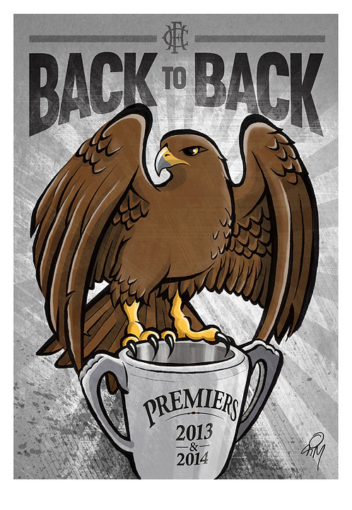 2014 Hawks 'Back to Back' A2 Poster