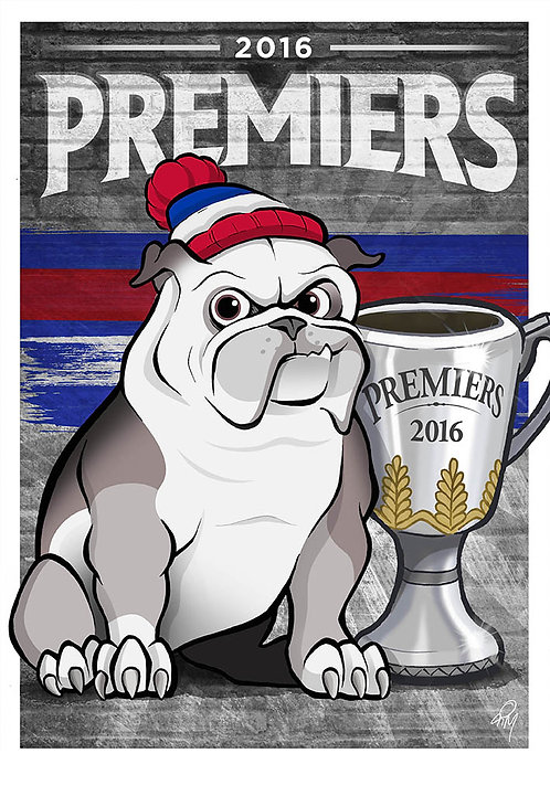 2016 Bulldogs 'Premiers' A2 Poster