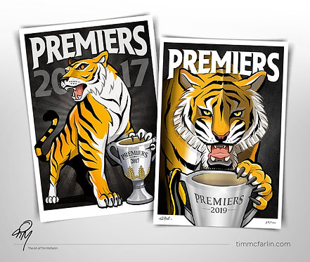 Tigers 2017 Poster & 2019 Limited Edition Print Double Pack