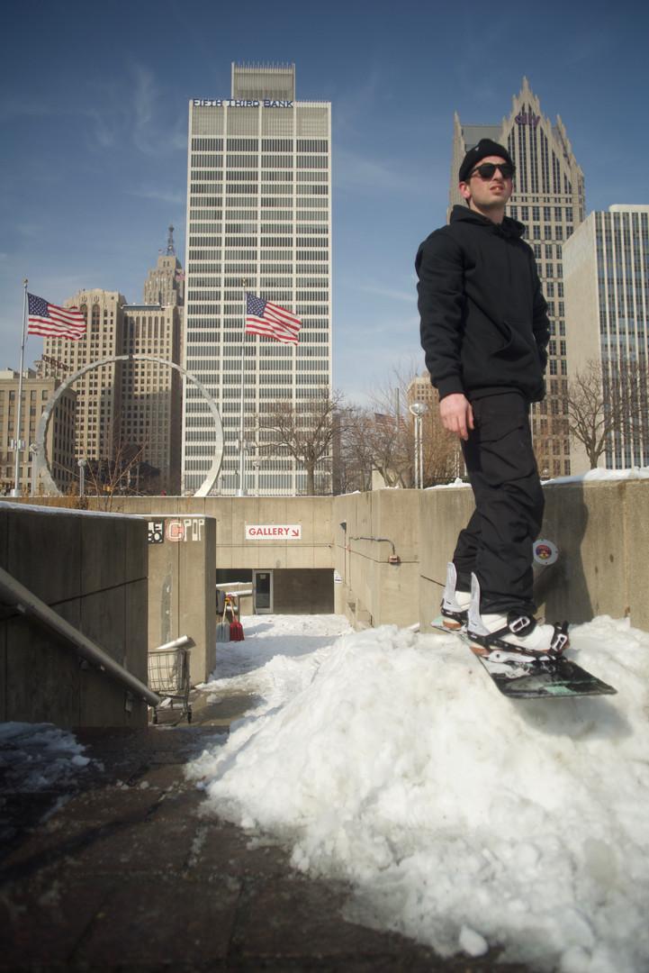 Hart Plaza Snowboarder