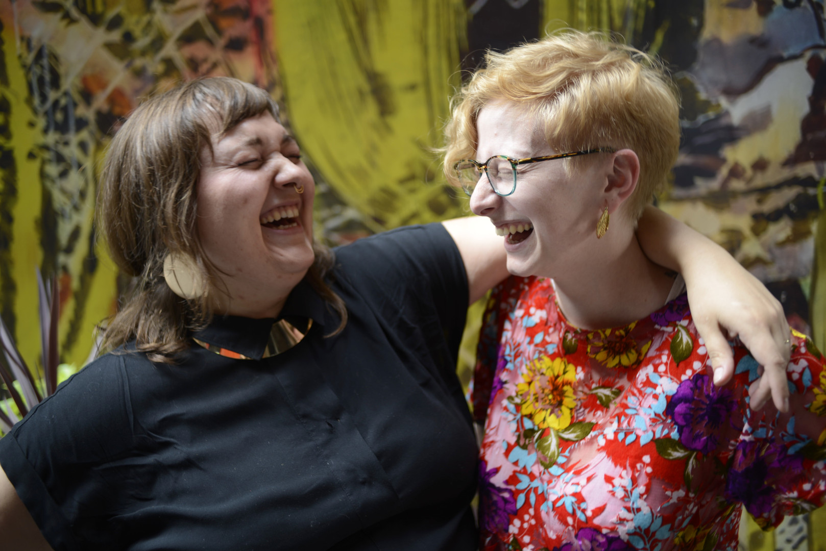 DAM dame sharing a funny with her friend