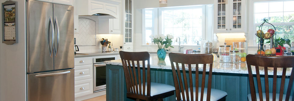 paint cabinets green island