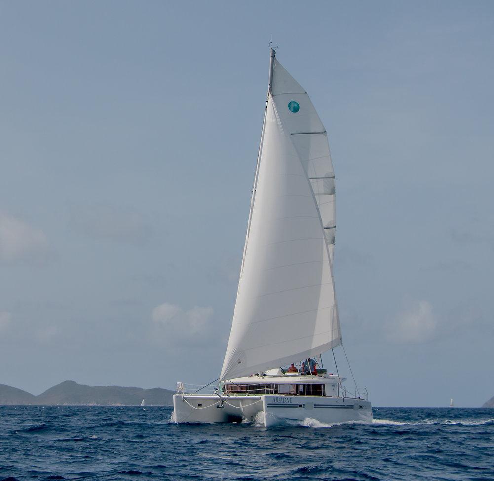 Charter catamaran yacht BVI