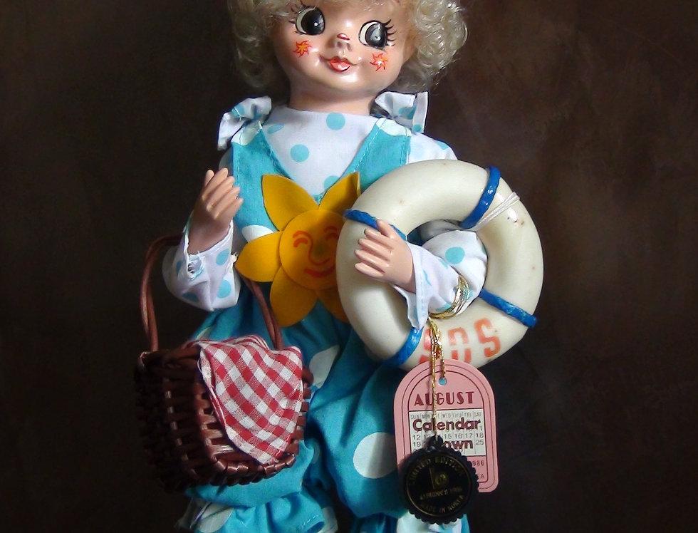 Brinn's Calendar Clown 1986, August