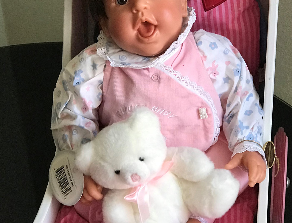 Sweet baby bear girl, Lee Middleton Original dolls