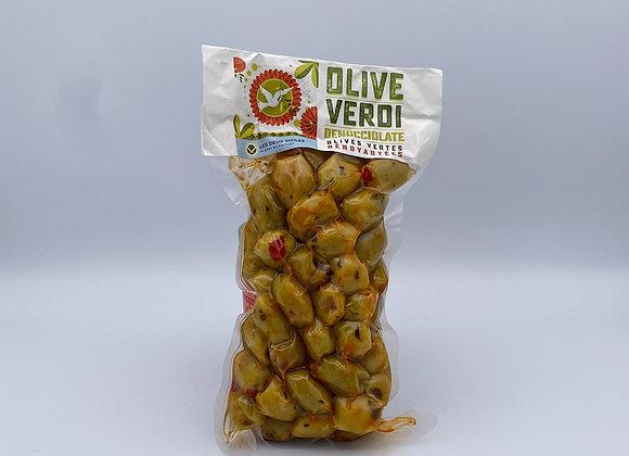 Olives Verdi (verte dénoyautées)