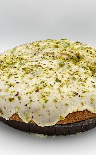 Brioche rotonda farcie à la crème de pistache,