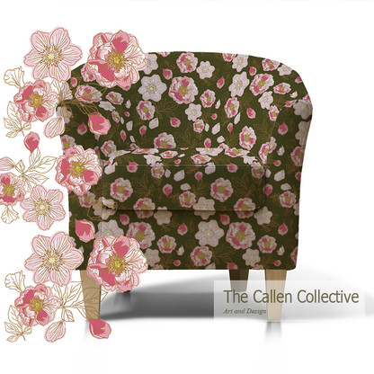 Tub Chair with Olive Peonys.jpg