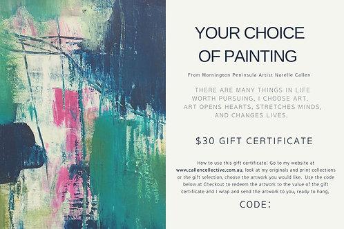 $30 Digital Gift Certificate
