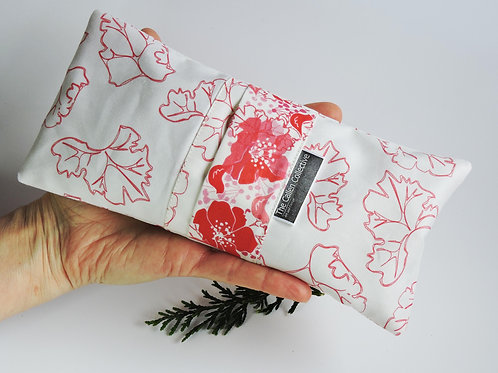 Poppy Leaves Lavender Eye Pillow