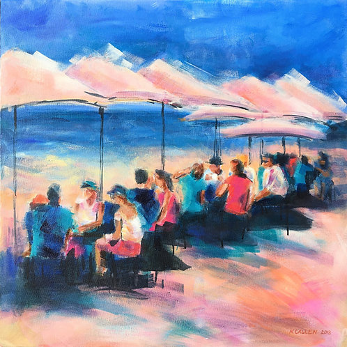 Seaside Cafe - Limited Edition Print