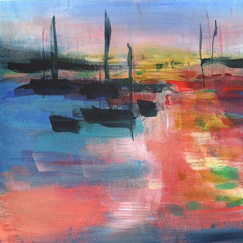 Sunset Pier Left - Fine Art Print
