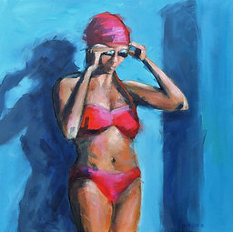 Swimmer in the Red Cap