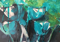 Turquoise Poppies - Open Edition Print
