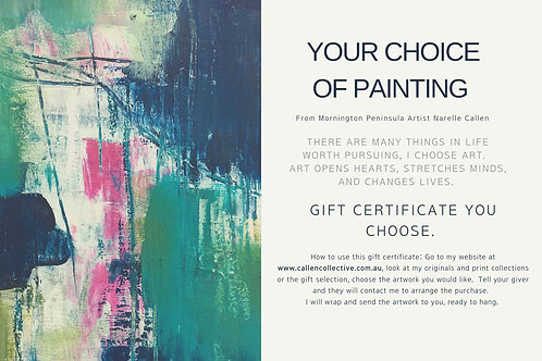 YOUR CHOICE GIFT CERTIFICATE