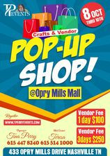 3 day Opry Mills Mall POPUP