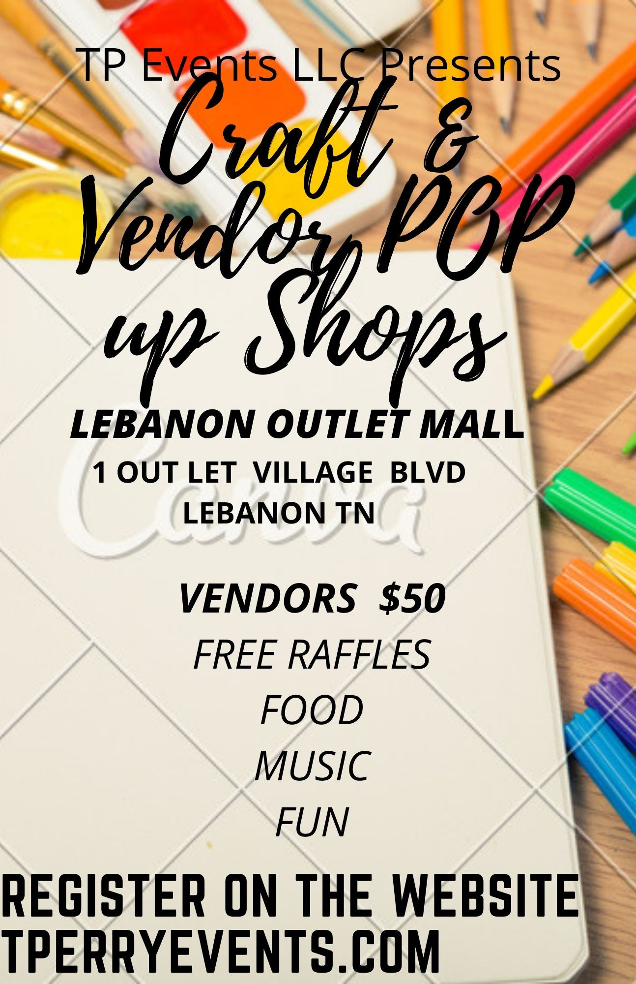 Craft & Vendor pop up shop