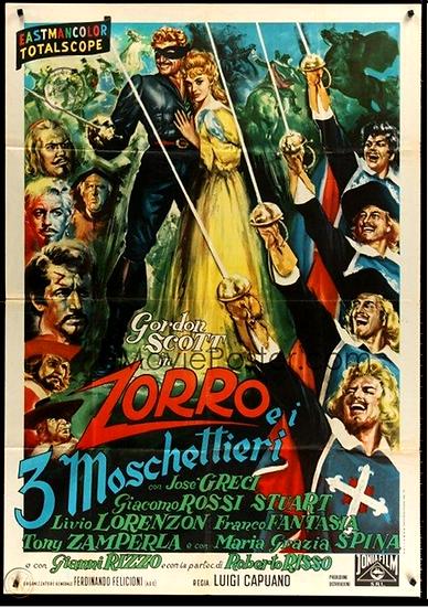Zorro E Os 3 Mosqueteiros