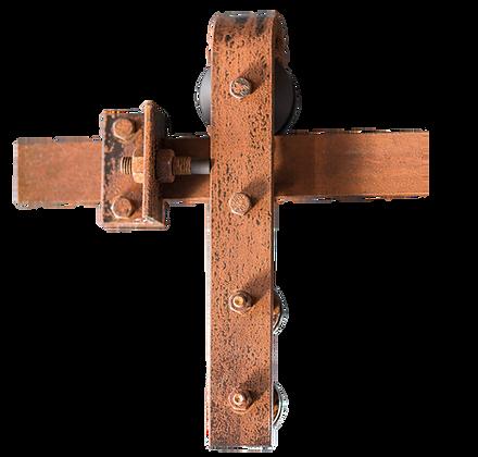 MWE Schiebetürsystem Stahlbeschlag Special Edition Rusted Look