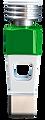 Individualisierte Spielfigur in der Farbe grün.