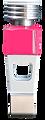 Individualisierte Spielfigur in der Farbe pink.