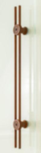 Detailansicht Schiebetürgriff in Rostoptik