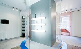 Duschsystem Viso als komplett frei stehende Rundanlage