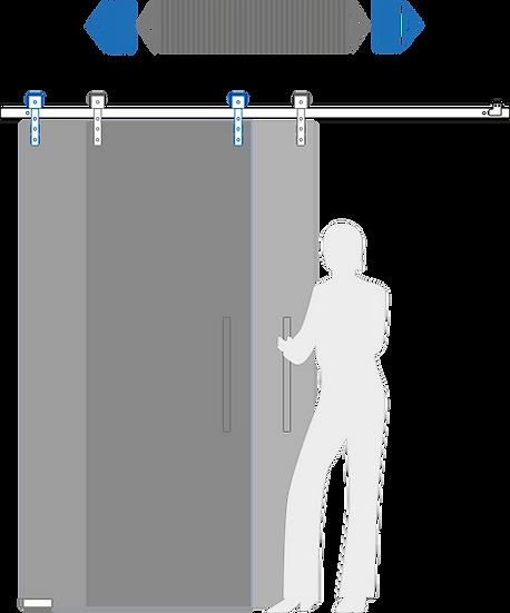 So arbeitet die Soft-Stop Technik der MWE Edelstahlmanufaktur. Gezeigt am beispiel des Schiebetürsystems Akzent R