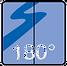 Anbringung und Winkel Glas/Glas 180°