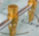 Detailansicht: Spielfiguren in Gold
