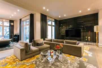 Altbauvilla mit Alsterblick Wohnzimmer
