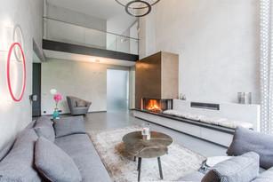 Moderne Giebelhausvilla Wohnzimmer
