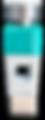 Individualisierte Spielfigur in der Farbe türkies.