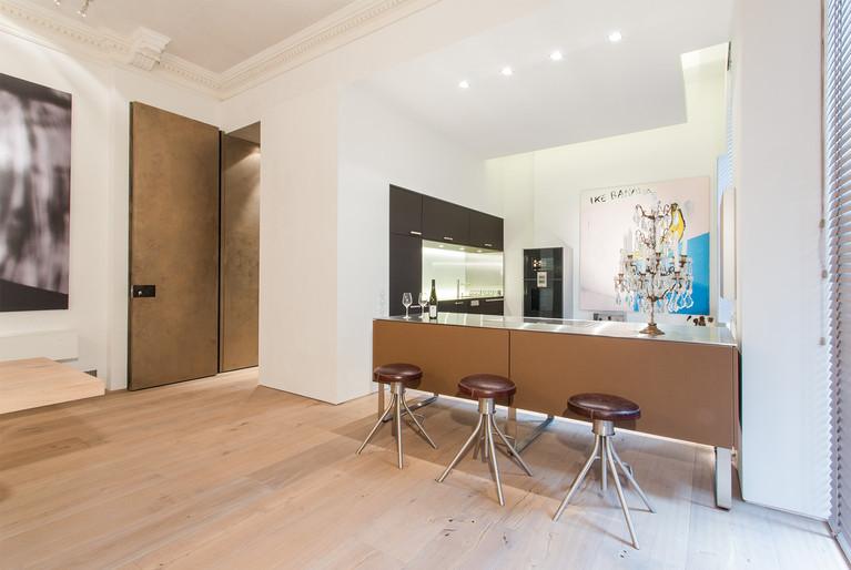 Berliner Penthouse Essbereich