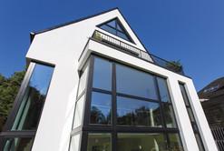 Architekturfotografie Giebelhaus Frontansicht