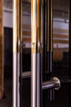Türgriffe in Silber mit Gold