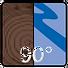 Anbringung und Winkel Glas/Wand 90°