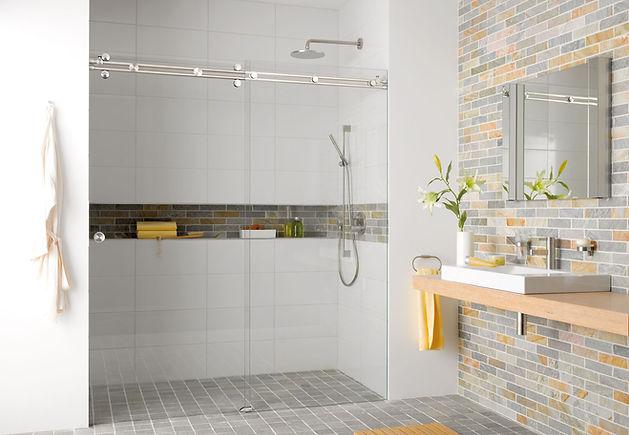 Duschsystem Miami als Nischendusche von MWE Edelstahlmanufaktur
