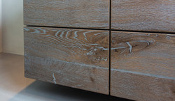 Detail: Schubladenoberflächen