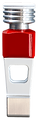 Individualisierte Spielfigur in der Farbe rot.